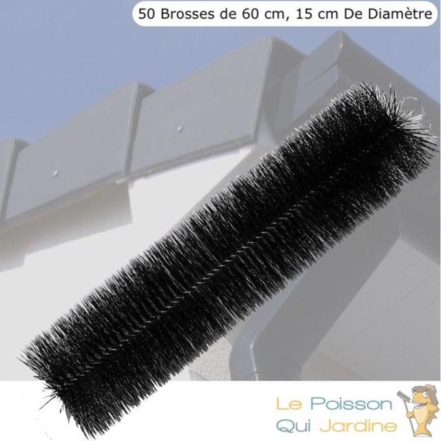 Le Poisson Qui Jardine 50 brosses de filtration 60 cm pour filtre de bassins de jardin