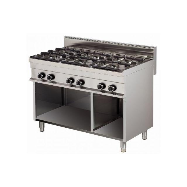 Combisteel Fourneau de cuisine professionnel 6 feux gaz - 36 kW 700