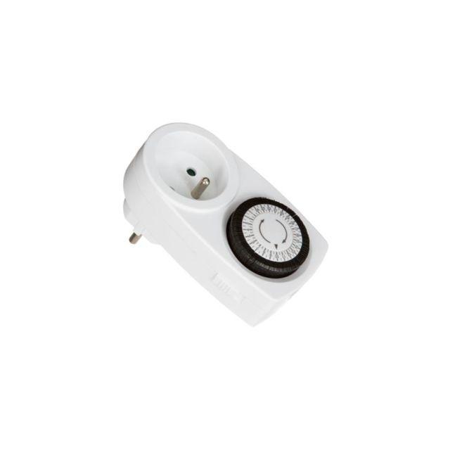 Minuteur mécanique - 11 x 6 x 7 cm - Blanc