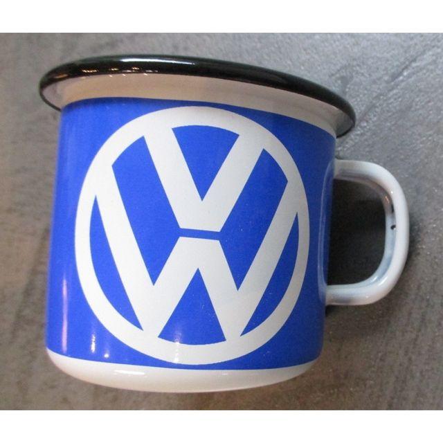 Universel Mug Vw logo bleu en email tasse à café emaillée volkswagen