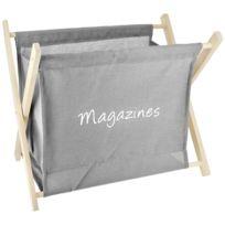 Livres Blanc Id/éal Magazines Meubletmoi Porte-revues en Bois de qualit/é Forme Sac /à Main avec Anse Aspect Cuir revues Collection Look