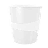 Leitz - Corbeille à papier Wow - en plastique - 15 litres - blanc