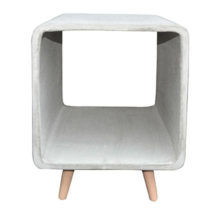Table d'appoint cube 40cm béton