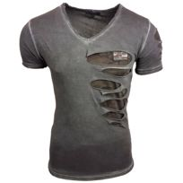 V Delave Dechire Shirt Anthracite Sb15053 Col XlCouleur Tee Taille Homme uFKT31clJ