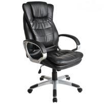 Fauteuil de bureau chaise siège classique ergonomique confortable noir  0508002