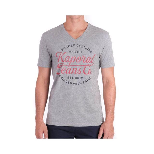 Tee Shirt Gris Homme Kaporal Obuc Gris L