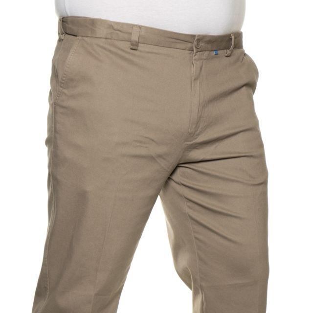 Duke - Pantalon chino beige taille extensible
