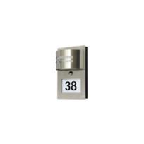 Ranex - 5000.418 - Eclairage extérieur, avec détecteur de présence avec numéro de rue, inox, plastique, brossé