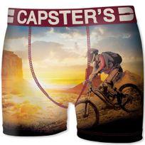 Capster'S Official - Boxer Homme Microfibre Bik Jaune Orange