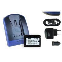 mtb more energy® - Batterie + Chargeur USB, Vw-vbk180 pour Panasonic Sdr-s45, S50, S70, S71, T50