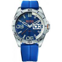 Hugo Boss Orange - Montre Boss Orange Berlin 1513286 - Montre Silicone Bleue Homme