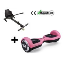 Balance Board - Pack Hoverboard Bluetooth Neo2 6.5P Rose + hoverkart Noir