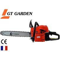 Gt Garden - Tronçonneuse thermique 52 cm3, 3 Cv, guide 45 cm, 2 chaînes