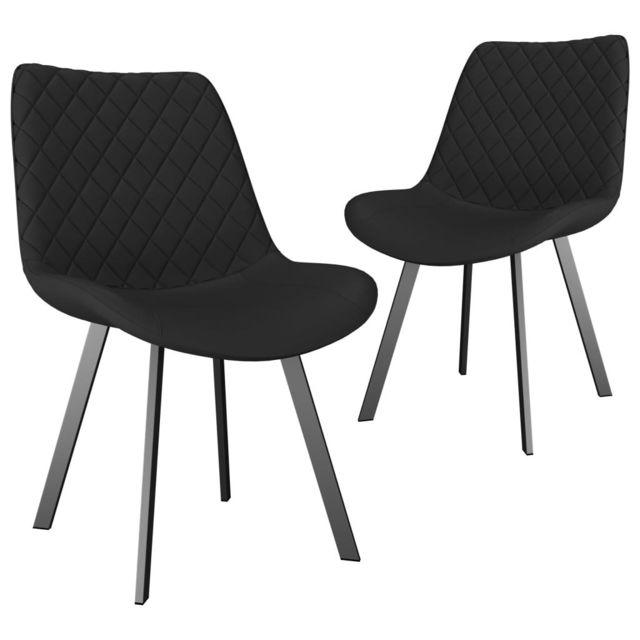 Admirable Fauteuils et chaises selection Khartoum Chaises de salle à manger 2 pcs Gris Similicuir