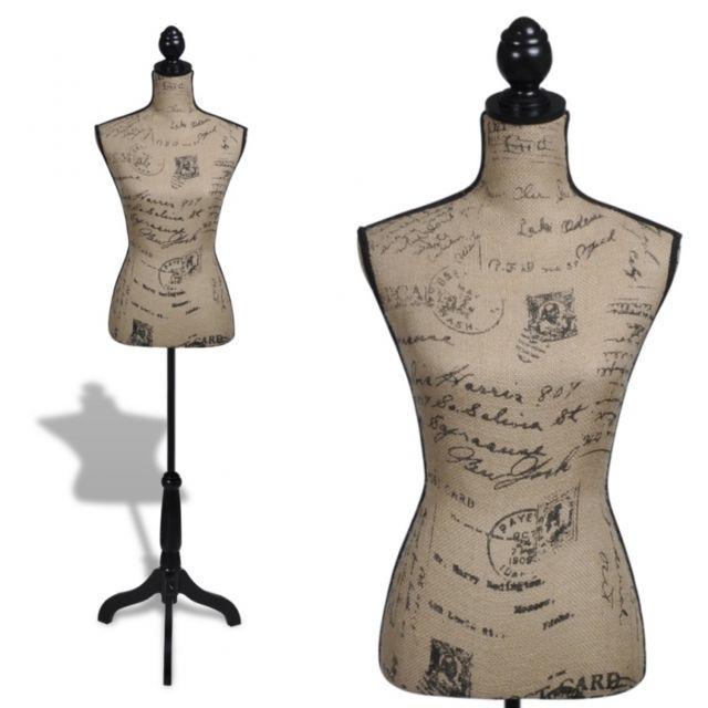 soldes helloshop26 buste de couture hauteur r glable mannequin femme 2002009 pas cher achat. Black Bedroom Furniture Sets. Home Design Ideas