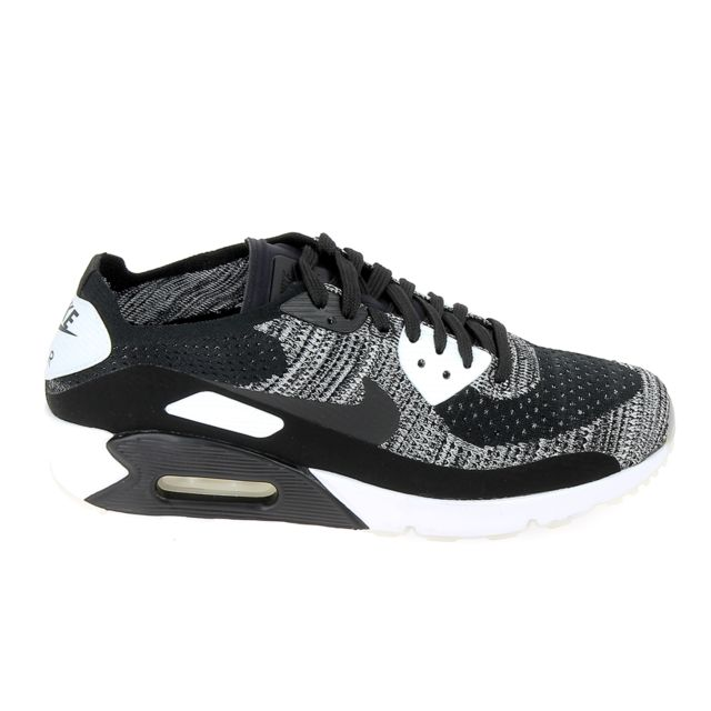 5df43d5244c786 Nike - Air Max Ultra 90 2.0 Flyknit Noir Blanc - pas cher Achat   Vente  Baskets homme - RueDuCommerce