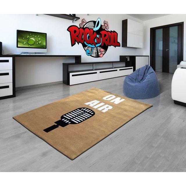 Mondialtapis - Tapis On Air Taupe chambre Ado \' 120 x 150 cm ...