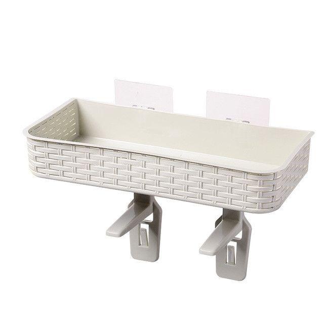 Wewoo Étagère Salle De Bains De Stockage Toilette Panier De De Multi-usages Pâte Sans Ongles Forte Cuisine Boîte De Rangement