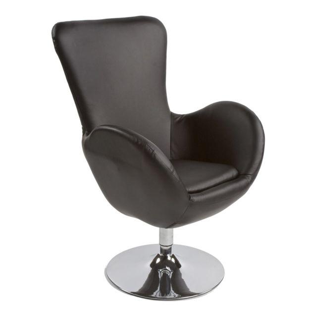 Marque Generique Fauteuil design 71x72x100cm Princes - noir
