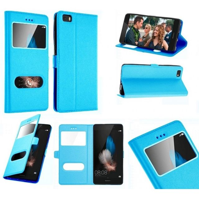 Etui Housse Coque Pochette View Interieur Silicone Turquoise Huawei ...