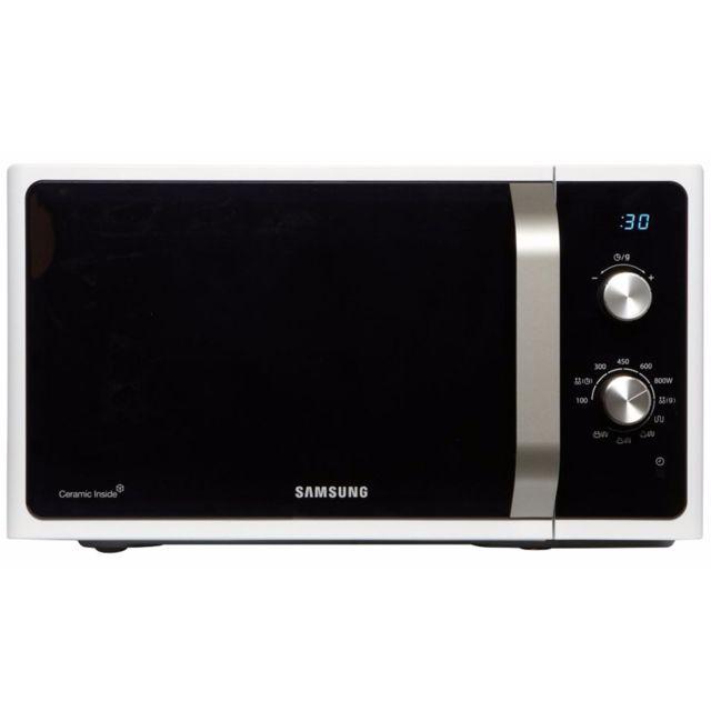 Samsung - MG23F301EAW Blanc , porte noire
