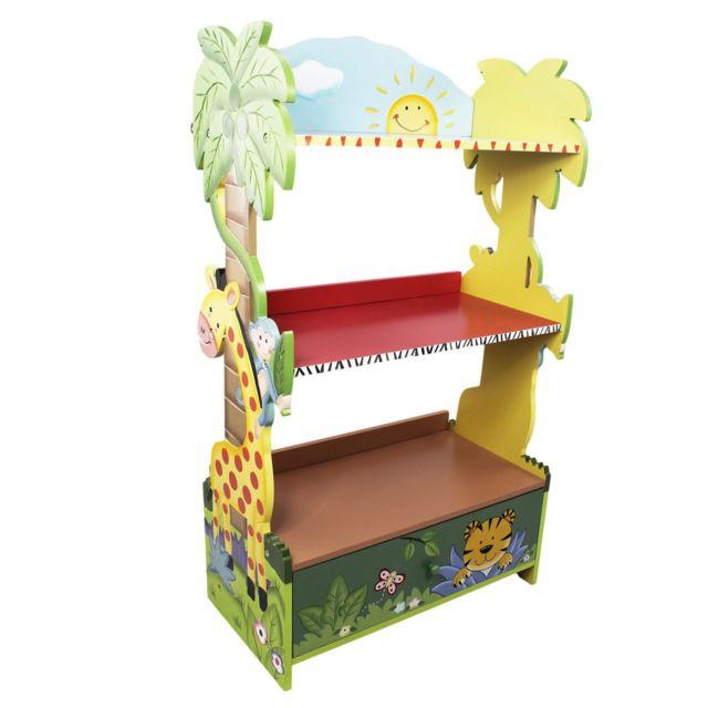fantasy fields meuble bibliothque tagre 1 tiroir rangement livre jouet enfant bois w 8268a