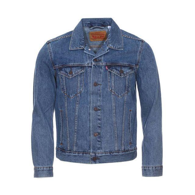 Levi S - Veste en jean Trucker bleu clair vintage - pas cher Achat   Vente  Blouson homme - RueDuCommerce 378e6da831d4