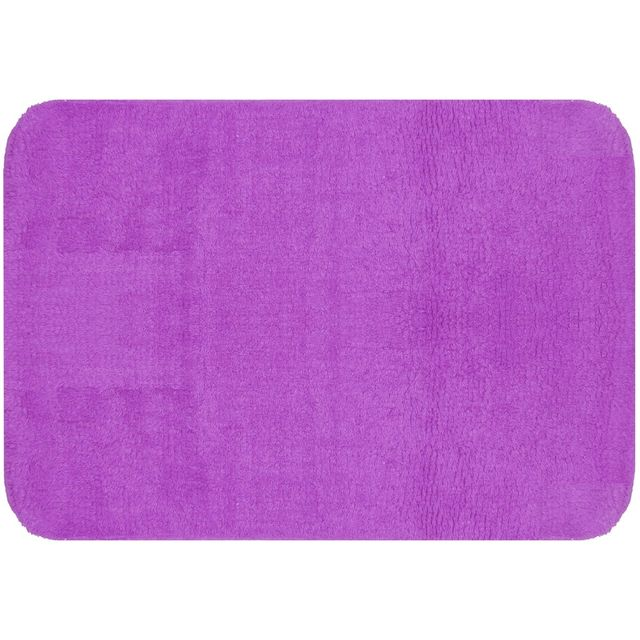 promobo grand tapis de salle de bain coton molletonn design city prune 50 x70cm violet pas. Black Bedroom Furniture Sets. Home Design Ideas