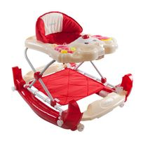 Sun Baby - Trotteur youpala balancelle interactive bébé 6-12 mois Petit Ours | Rouge