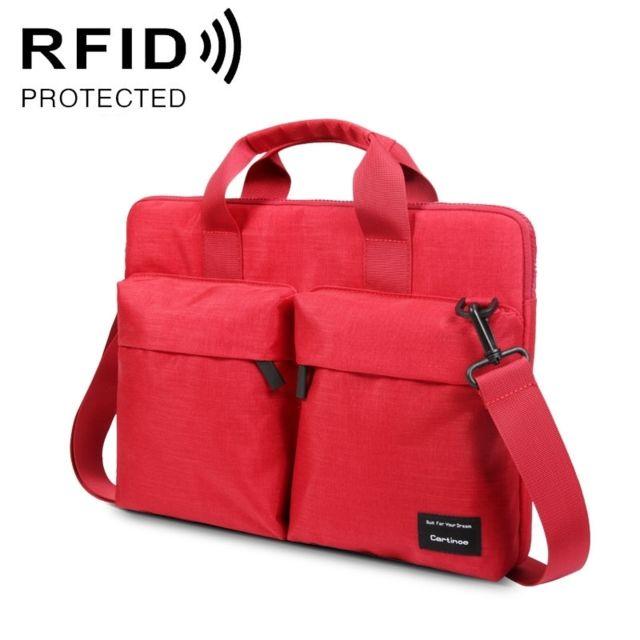e485746d69 Wewoo - Sacoche ordinateur 13 pouces Anti-rfid mode sac à bandoulière  confortable respirant Polyester