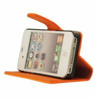 Mocca - étui folio vernis orange fluo iPhone 4 / 4S
