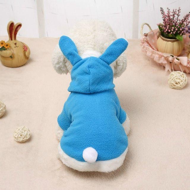 Wewoo Vêtements pour animaux domestiques chien rose tendre oreilles de lapin vêtementstaille l bleu