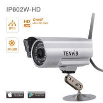 TENVIS - iP602W-HD Caméra de surveillance extérieur HD 1280x720P IP Wifi sans fil - Waterproof - Alarme & Détection mouvement - Vision Nocturne - Application téléphone & Guide en français