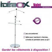 Idebox - Valet en métal 108,5 x 43 x 28 cm