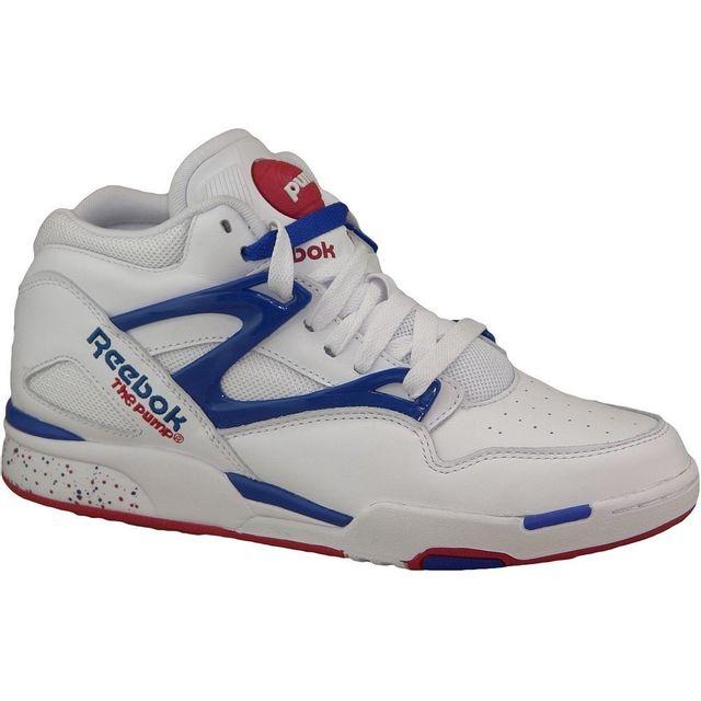 f8c30aa21be19b Reebok - Pump Omni Lite M41449 Homme Baskets Blanc - pas cher Achat   Vente Baskets  homme - RueDuCommerce