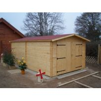 Foresta - Garage en bois 28 mm 3.50 x 5.40 m Montage disponible
