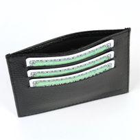 Volumica - Porte Carte d'identité et Carte bancaire en cuir Noir Beaubourg