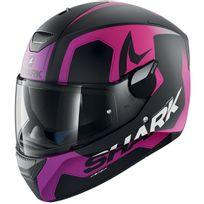 Shark - casque moto intégral polycarbonate Skwal Trion Kvv femme noir rose mat Promo Xs