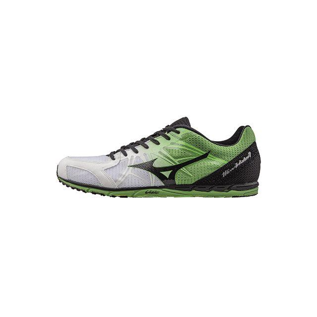 a1afd454168 Mizuno - Wave Ekiden 9 - blanc noir vert - pas cher Achat   Vente  Chaussures running - RueDuCommerce