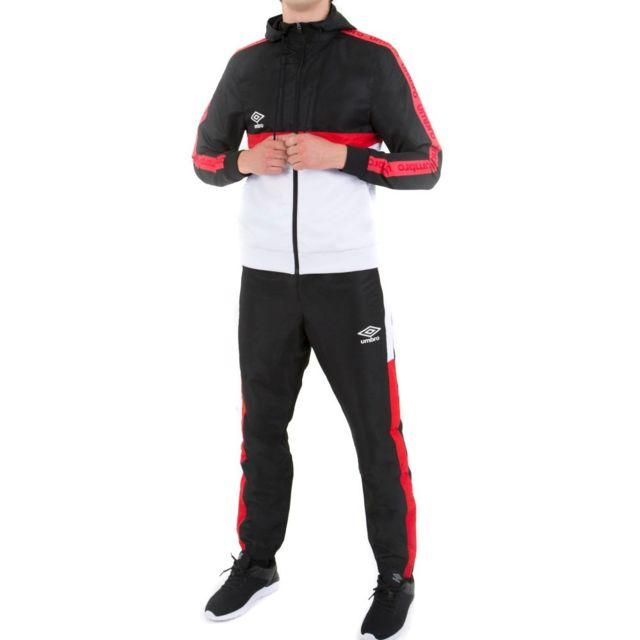 Umbro - Survêtement noir/blanc homme Authentic