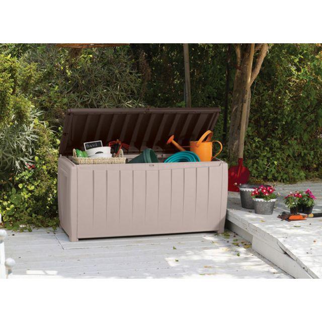 keter coffre de rangement avec assise pas cher achat vente coffres rueducommerce. Black Bedroom Furniture Sets. Home Design Ideas