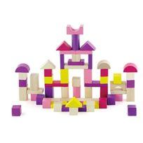 New Classic Toys - 0807 - Jeu De Construction - Baril De Cubes - 60 PiÈCES - Violet/ROSE