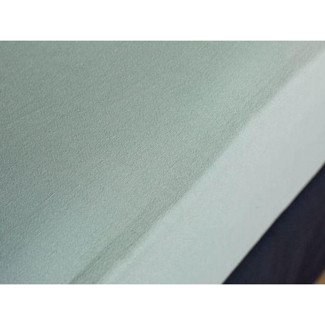 dlm drap housse lin et coton lav bleu bonnet 30cm 140x190 hortense pas cher achat vente. Black Bedroom Furniture Sets. Home Design Ideas