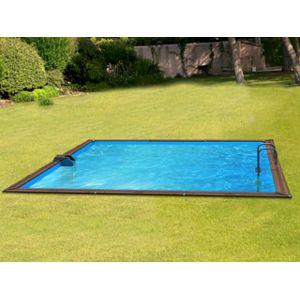 Water clip pool zen spa kit piscine bois platinum for Piscine bois carree pas cher