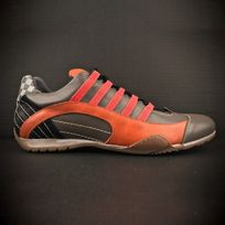 Gulf - Chaussures Racing Sneaker oranges et grises pour homme taille 42