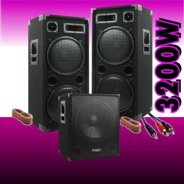 Ibiza Sound Pack sono 3200 / cube1512 - 2 enceintes 1500w