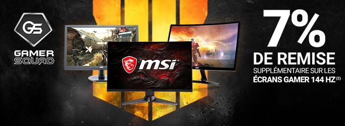 GAMER SQUAD - 7% de remise supplémentaire sur les écrans gamer 144 Hz !