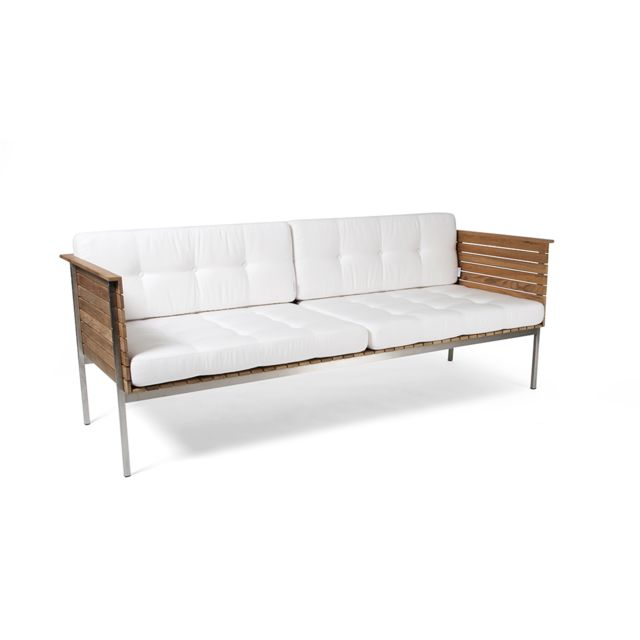 Skargaarden Sofa de salon Häringe - acier brossé - gris clair