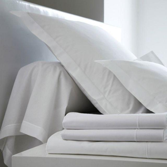 blanc des vosges drap housse 80 x 200 blanc bonnet 27 cm 80cm x 200cm pas cher achat vente. Black Bedroom Furniture Sets. Home Design Ideas