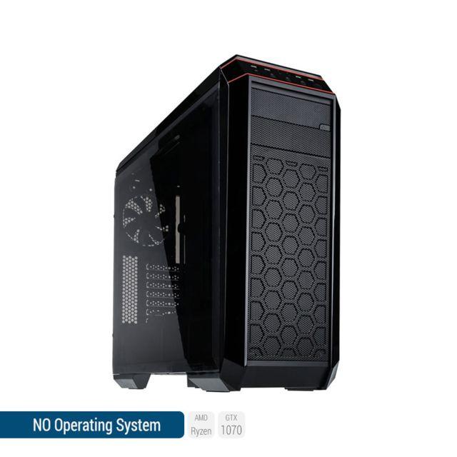 SEDATECH PC Gamer, AMD Ryzen 5, GTX1070, 2To HDD, 16 Go RAM, sans OS. Ref: UCM6120I1